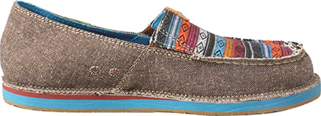 Women's Twisted X WCL0005 ECO TWX Driving Moc Loafer, Dust/Multi Canvas, large, image 2