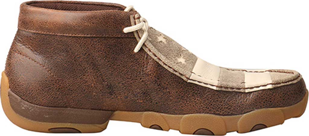 Men's Twisted X MDM0075 Driving Moc Chukkah, Brown/Ivory Leather, large, image 2