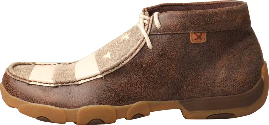 Men's Twisted X MDM0075 Driving Moc Chukkah, Brown/Ivory Leather, large, image 3