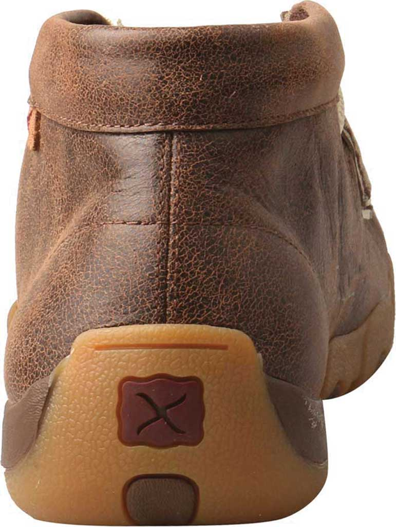 Men's Twisted X MDM0075 Driving Moc Chukkah, Brown/Ivory Leather, large, image 4