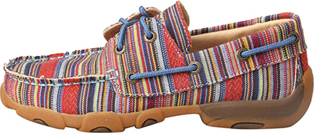 Children's Twisted X YDM0041 Driving Moc Boat Shoe, Multi Stripe Canvas, large, image 3
