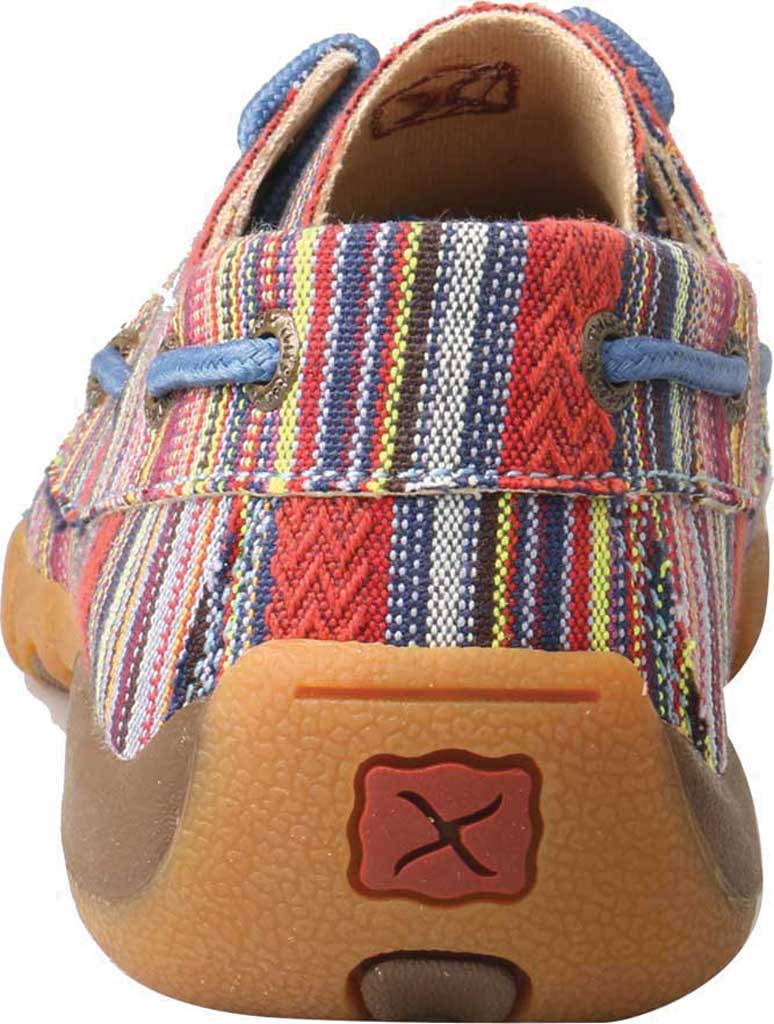 Children's Twisted X YDM0041 Driving Moc Boat Shoe, Multi Stripe Canvas, large, image 4