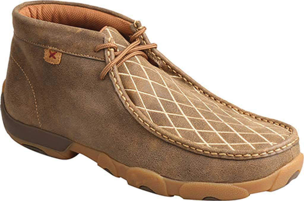 Men's Twisted X MDM0076 Driving Moc Chukkah, Bomber Leather, large, image 1