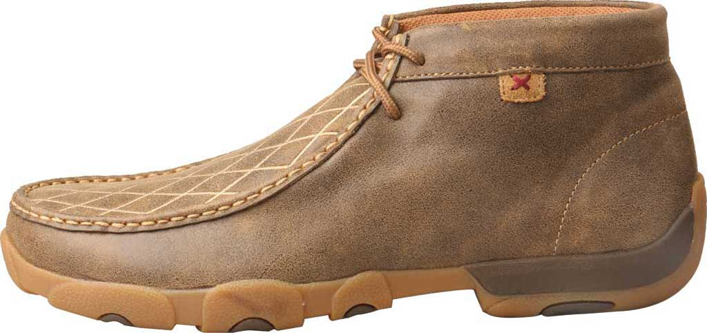 Men's Twisted X MDM0076 Driving Moc Chukkah, Bomber Leather, large, image 3
