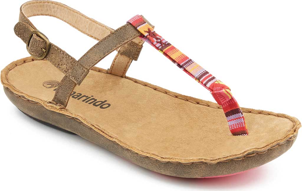 Women's Tamarindo Tidal Thong Sandal, Sand/Pink Multi Full Grain Leather, large, image 1