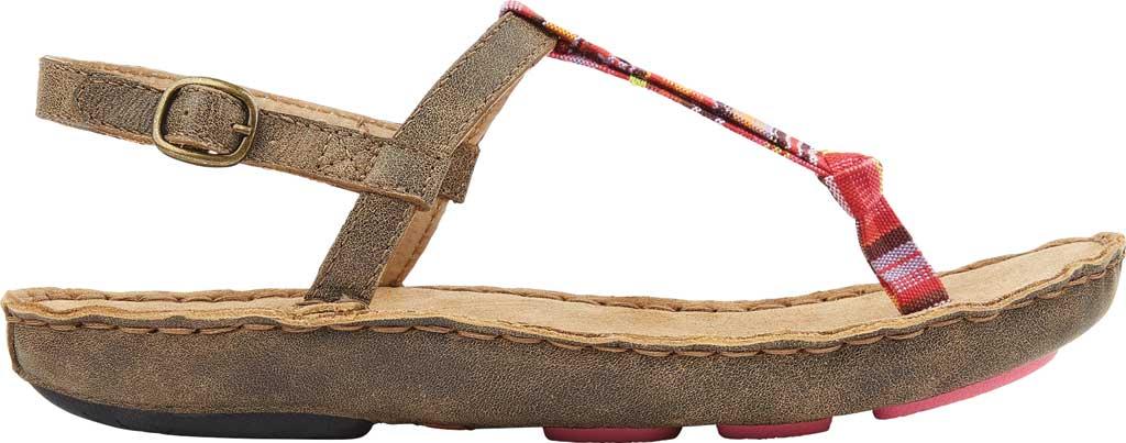 Women's Tamarindo Tidal Thong Sandal, Sand/Pink Multi Full Grain Leather, large, image 2