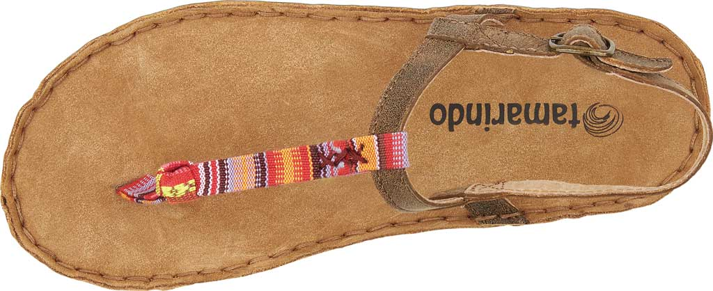 Women's Tamarindo Tidal Thong Sandal, Sand/Pink Multi Full Grain Leather, large, image 3