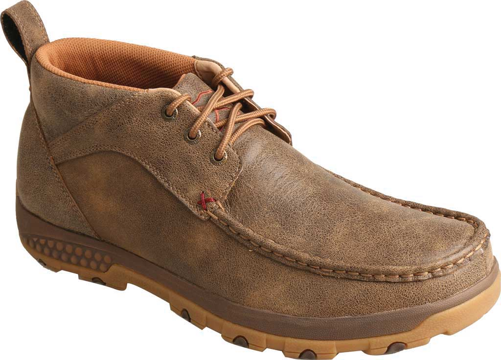 Men's Twisted X MXC0001 CellStretch Casual Chukka Driving Moc, Bomber Full Grain Leather, large, image 1