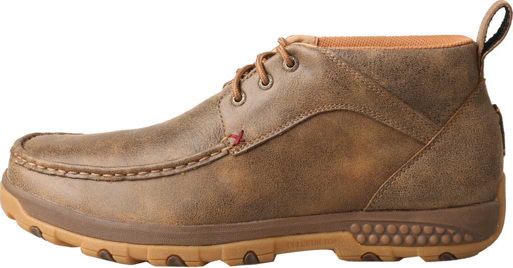 Men's Twisted X MXC0001 CellStretch Casual Chukka Driving Moc, Bomber Full Grain Leather, large, image 2