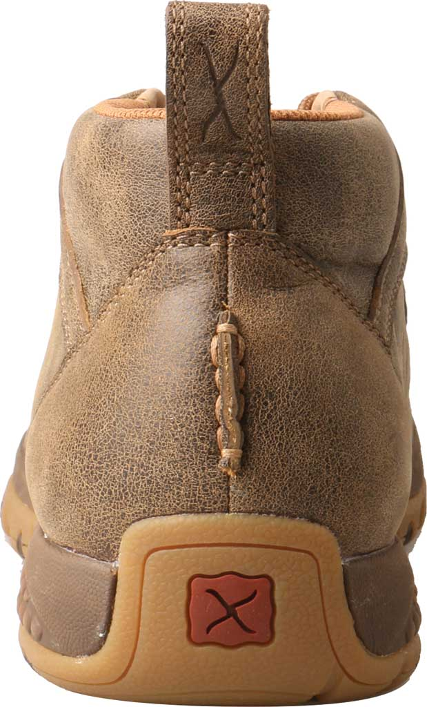 Men's Twisted X MXC0001 CellStretch Casual Chukka Driving Moc, Bomber Full Grain Leather, large, image 3