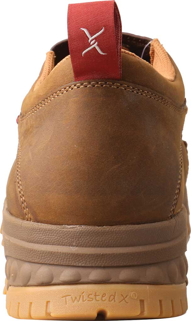 Men's Twisted X MXCC003 CellStretch Composite Toe Work Slip On, Distressed Saddle Full Grain Oiled Leather, large, image 3