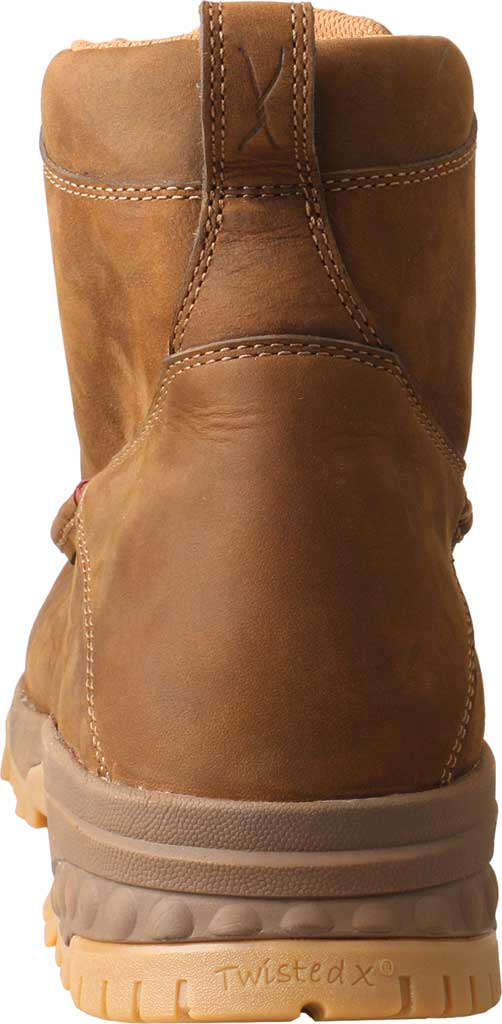 """Men's Twisted X MXCC001 CellStretch 6"""" Composite Toe Work Boot, Distressed Saddle Full Grain Oiled Leather, large, image 3"""