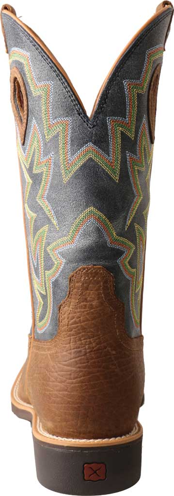 Men's Twisted X MTH0026 Top Hand Cowboy Boot, Peanut Distressed/Navy Leather, large, image 3