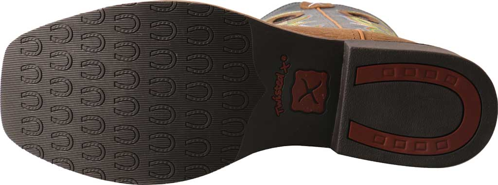 Men's Twisted X MTH0026 Top Hand Cowboy Boot, Peanut Distressed/Navy Leather, large, image 4