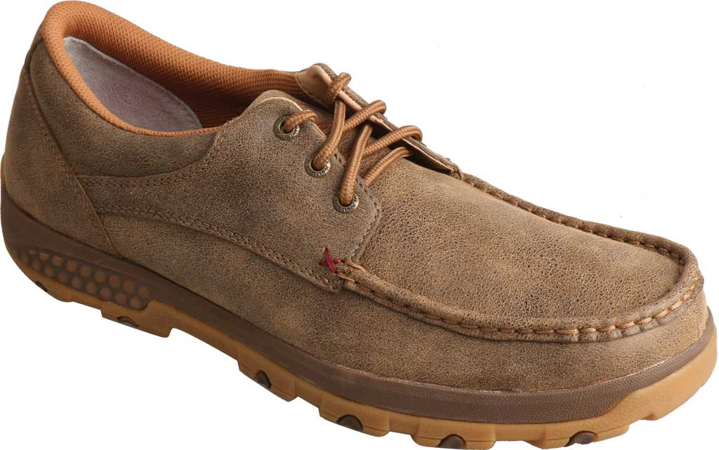 Men's Twisted X MXC0002 CellStretch Casual Driving Moc, Bomber Full Grain Leather, large, image 1