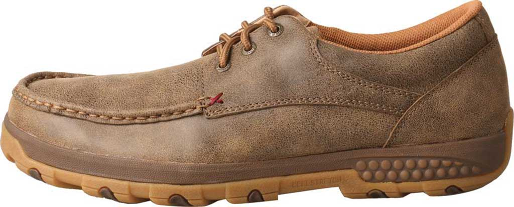 Men's Twisted X MXC0002 CellStretch Casual Driving Moc, Bomber Full Grain Leather, large, image 2