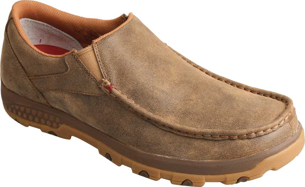 Men's Twisted X MXC0003 CellStretch Casual Slip On Driving Moc, Bomber Full Grain Leather, large, image 1