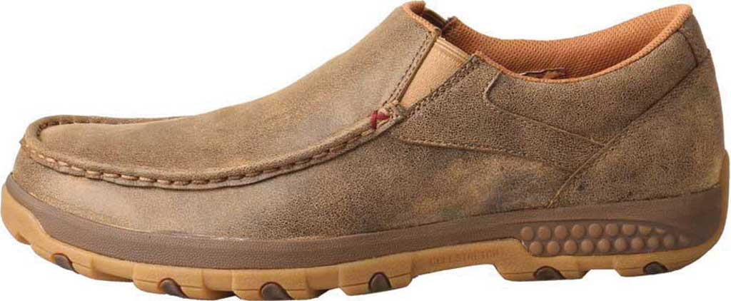 Men's Twisted X MXC0003 CellStretch Casual Slip On Driving Moc, Bomber Full Grain Leather, large, image 2