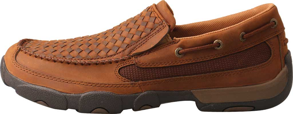 Men's Twisted X MDMS017 Driving Moc, Oiled Saddle/Brown Leather, large, image 2