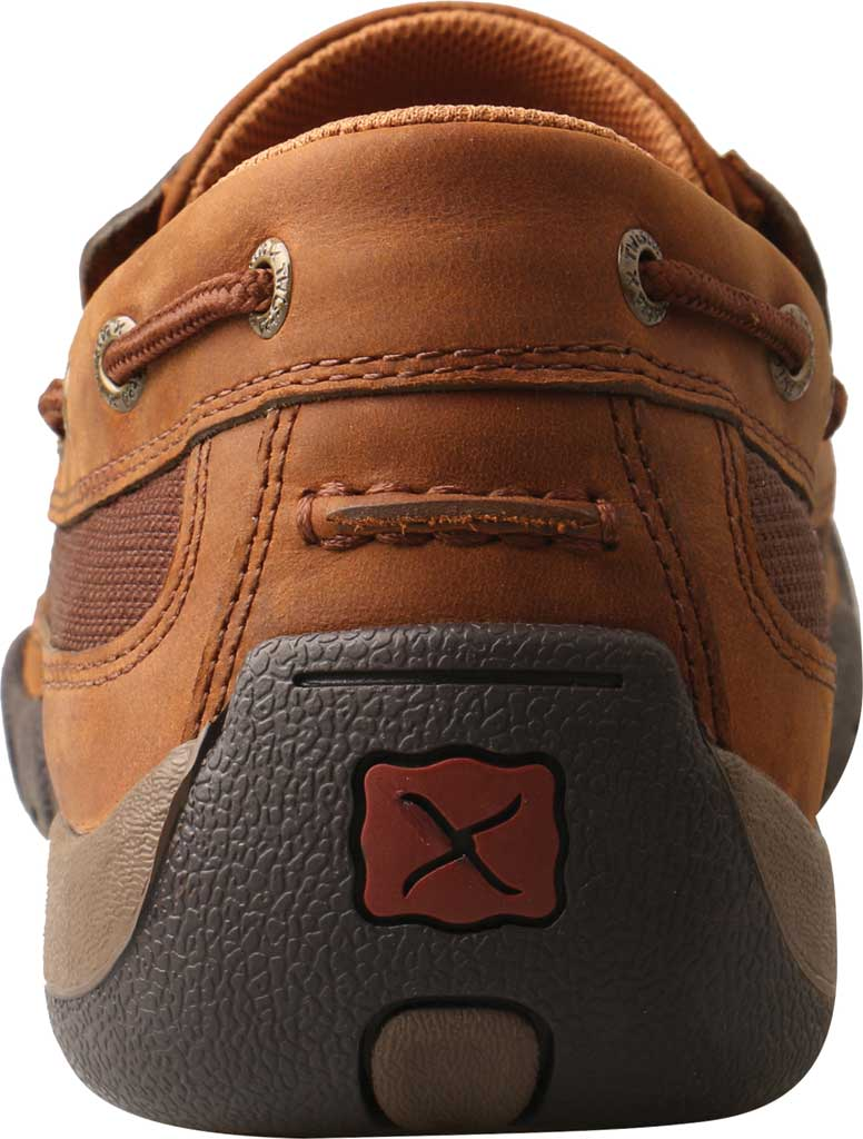 Men's Twisted X MDMS017 Driving Moc, Oiled Saddle/Brown Leather, large, image 3