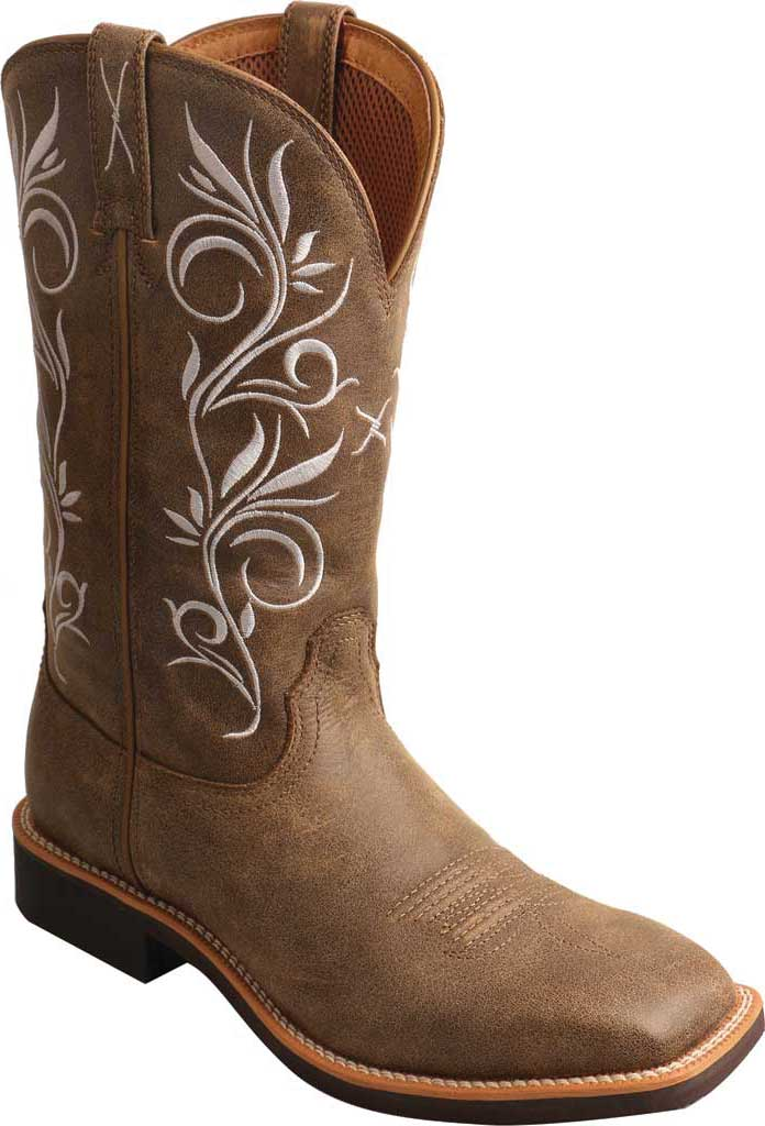 Women's Twisted X WTH0012 Top Hand Cowgirl Boot, Bomber/Bomber Leather, large, image 1