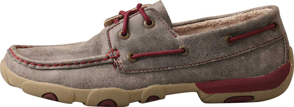 Women's Twisted X WDM0121 Driving Moc, Grey/Berry Leather, large, image 2