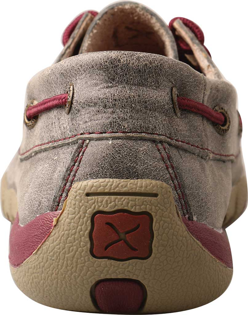 Women's Twisted X WDM0121 Driving Moc, Grey/Berry Leather, large, image 3