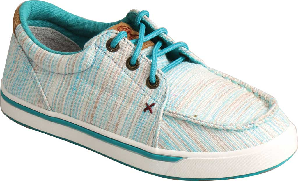 Children's Twisted X YHYC005 Hooey Sneaker, Blue/Multi Fabric, large, image 1