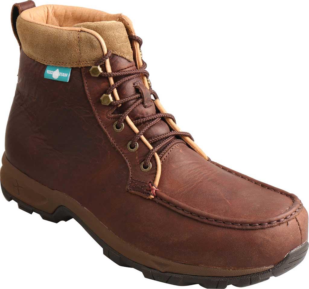 Men's Twisted X MHKWC03 Waterproof Composite Toe Boot, Dark Brown Leather, large, image 1