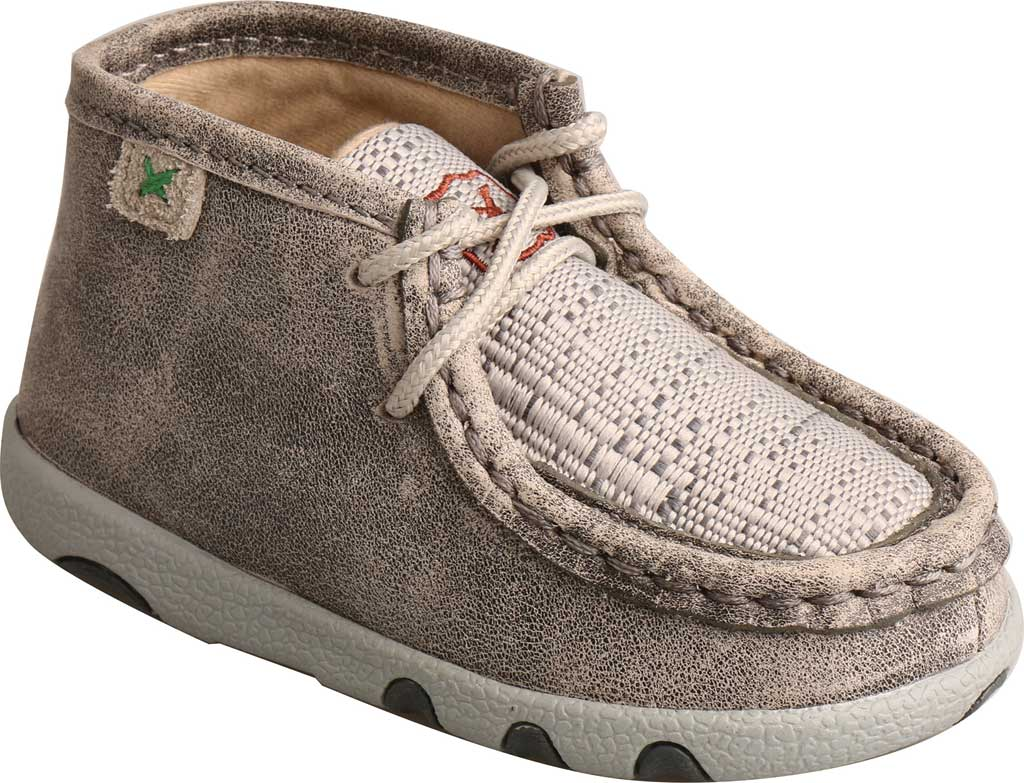 Infant Twisted X ICA0012 Casual Bootie, Grey/Light Grey Leather/Fabric, large, image 1