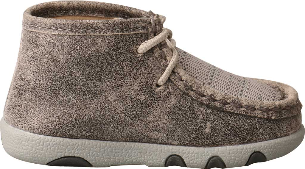 Infant Twisted X ICA0012 Casual Bootie, Grey/Light Grey Leather/Fabric, large, image 2
