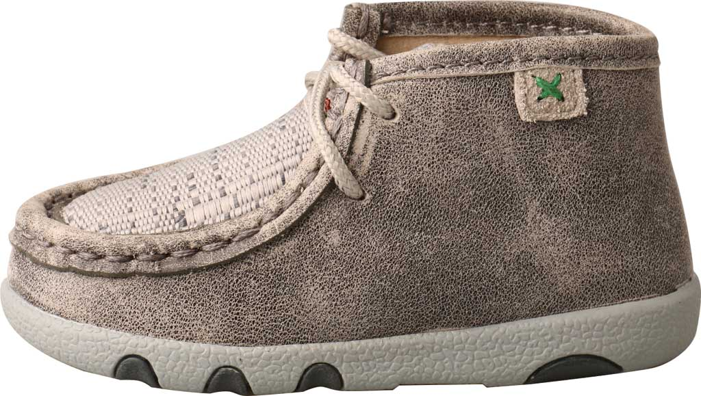 Infant Twisted X ICA0012 Casual Bootie, Grey/Light Grey Leather/Fabric, large, image 3