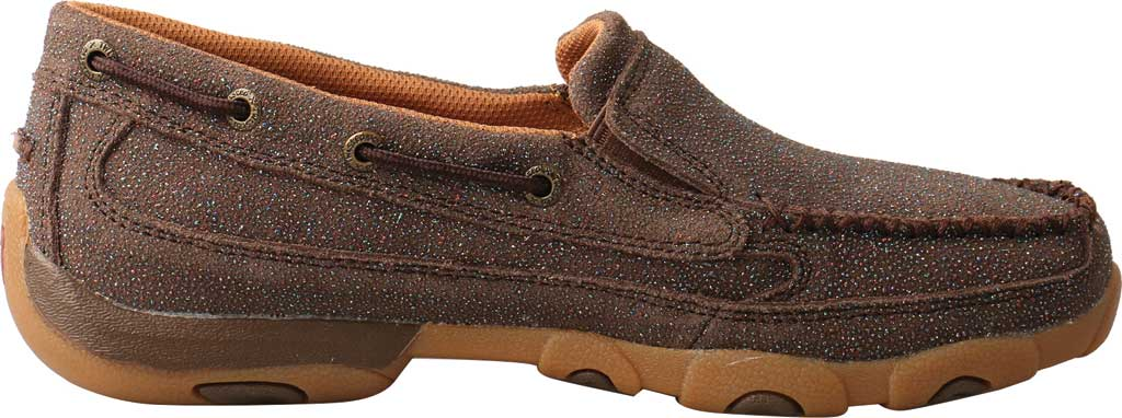 Women's Twisted X WDMS016 Driving Moc Boat Shoe, Chocolate Shimmer Leather, large, image 2