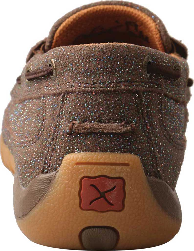 Women's Twisted X WDMS016 Driving Moc Boat Shoe, Chocolate Shimmer Leather, large, image 4