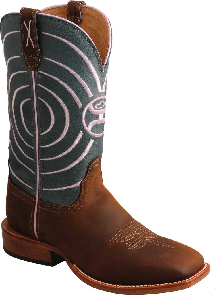 Women's Twisted X WHY0010 Hooey Cowgirl Boot, Dark Brown/Navy Leather, large, image 1