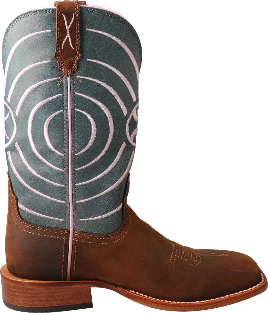 Women's Twisted X WHY0010 Hooey Cowgirl Boot, Dark Brown/Navy Leather, large, image 2