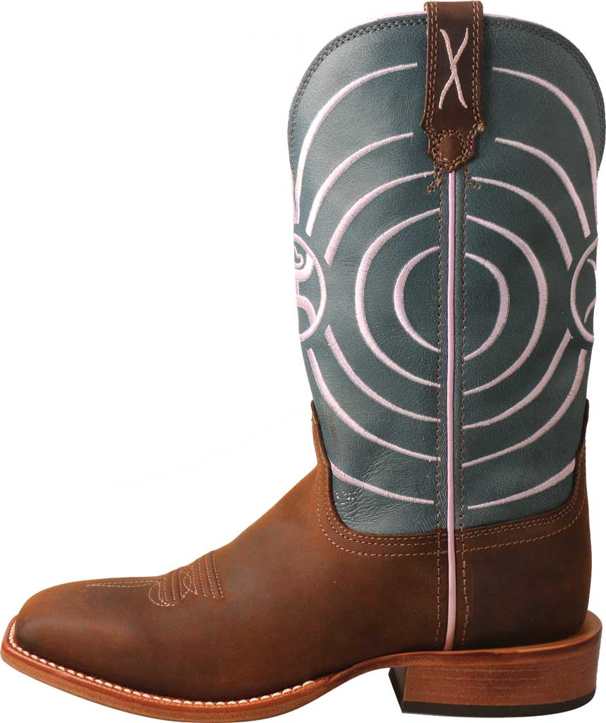 Women's Twisted X WHY0010 Hooey Cowgirl Boot, Dark Brown/Navy Leather, large, image 3