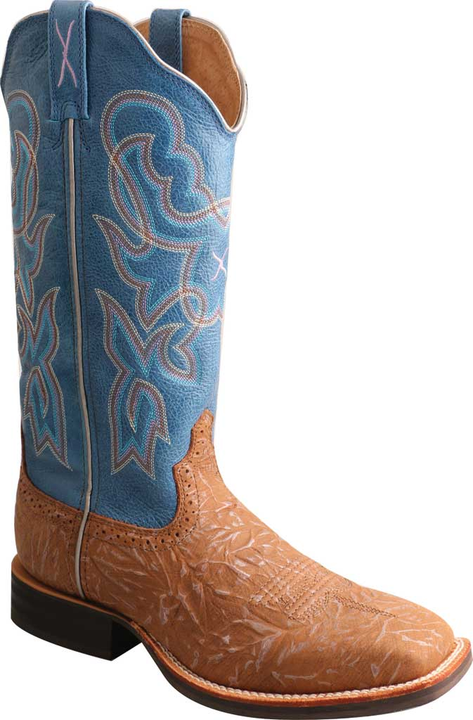 Women's Twisted X WRS0030 Ruff Stock Cowgirl Boot, Tan/Sky Blue Leather, large, image 1