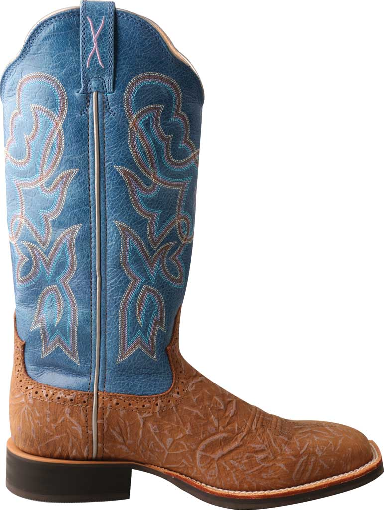 Women's Twisted X WRS0030 Ruff Stock Cowgirl Boot, Tan/Sky Blue Leather, large, image 2