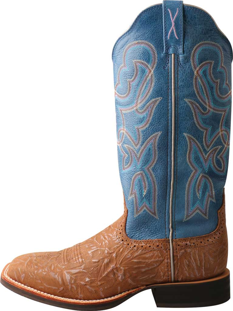 Women's Twisted X WRS0030 Ruff Stock Cowgirl Boot, Tan/Sky Blue Leather, large, image 3