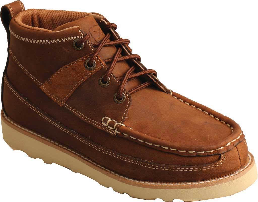 Children's Twisted X YCA0001 Lace Up Boot, Brown Oiled Saddle Leather, large, image 1