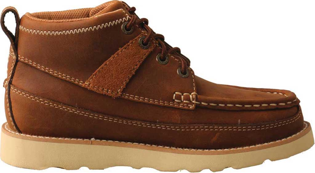 Children's Twisted X YCA0001 Lace Up Boot, Brown Oiled Saddle Leather, large, image 2