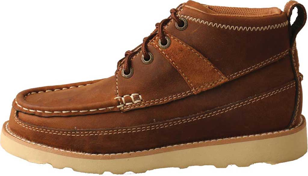 Children's Twisted X YCA0001 Lace Up Boot, Brown Oiled Saddle Leather, large, image 3