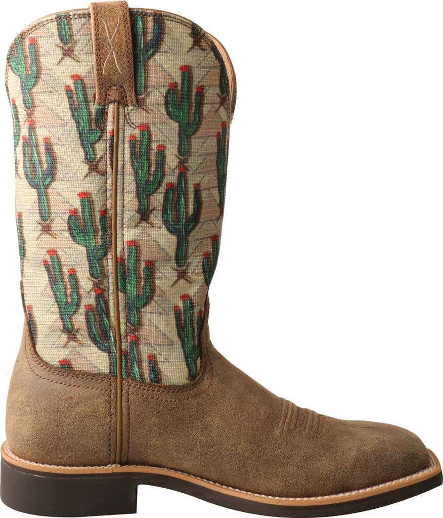 Women's Twisted X WTH0016 Top Hand Cowgirl Boot, Bomber/Cactus Print Leather/Fabric, large, image 2
