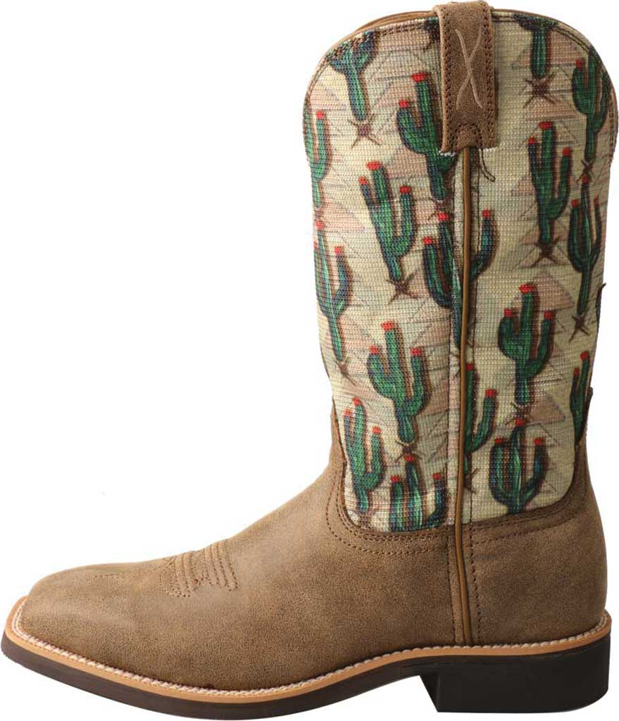Women's Twisted X WTH0016 Top Hand Cowgirl Boot, Bomber/Cactus Print Leather/Fabric, large, image 3