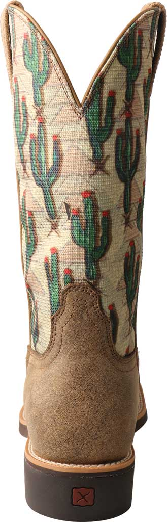 Women's Twisted X WTH0016 Top Hand Cowgirl Boot, Bomber/Cactus Print Leather/Fabric, large, image 4
