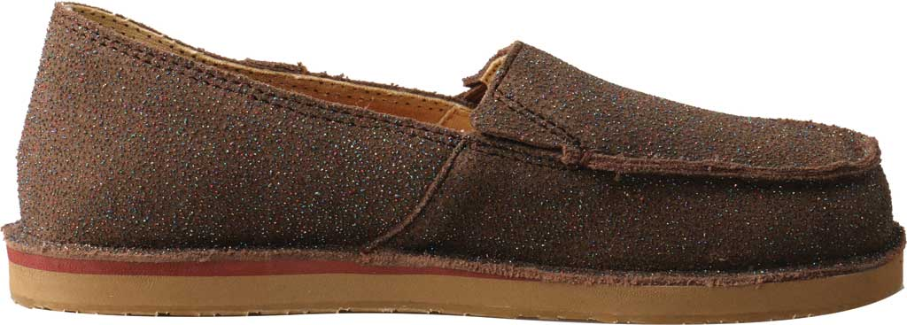 Children's Twisted X YCL0003 Loafer, Chocolate Shimmer Leather, large, image 2