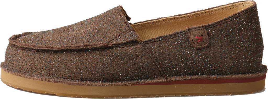 Children's Twisted X YCL0003 Loafer, Chocolate Shimmer Leather, large, image 3