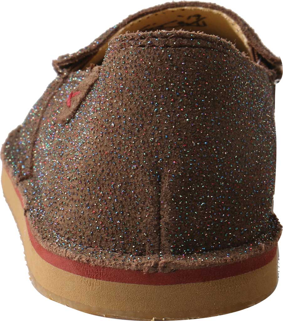 Children's Twisted X YCL0003 Loafer, Chocolate Shimmer Leather, large, image 4