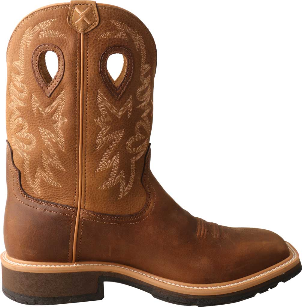 Men's Twisted X MCWW002 Cowboy Work Boot, Brown/Light Brown Leather, large, image 2